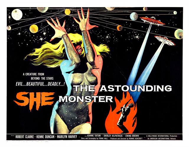 Albert Kallis - The Astounding She Monster (American International, 1958) Half Sheet