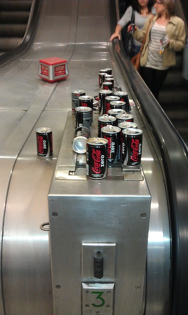 Cans of Coke Zero