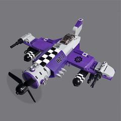 Kshaku Zero - Sky Fighter (Fredoichi) Tags: plane lego space military micro shooter shootemup skyfi shmup microscale dieselpunk skyfighter fredoichi