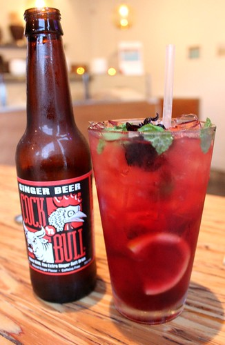 Housemade Hibiscus Soda & Ginger Beer