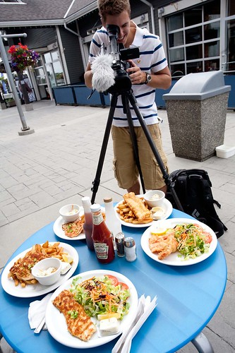 Shooting Fish N Chips at Pat's Galley
