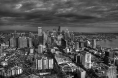 B&W HDR of the Seattle Skyline