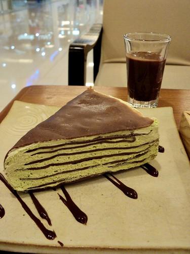 [Chaho] Green Tea Crape Cake