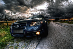 AUDI A6 (johanbe) Tags: light sky color art car nikon cloudy bil audi drama hdr a6 audia6 d90 photomatix nikond90