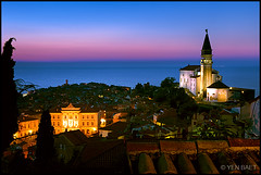 Piran - The Church of St. George after Sunset (Yen Baet) Tags: ocean city travel sunset panorama cliff seascape alps classic church architecture night landscape coast town seaside twilight europe mediterranean waterfront view cathedral dusk hill scenic eu icon medieval slovenia alpine vista bluehour piran peninsula picturesque iconic adriaticsea istria waterscape primorska slovene pirano giuseppetartini stgeorgecathedral europeancities republikaslovenija slovenskaistra jadranskomorje republicofslovenia gulfofpiran slovenianlittoral istriaslovena