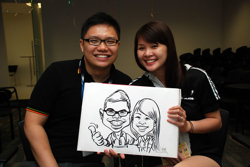 caricature live sketching for iFast Financial Pte Ltd - 4