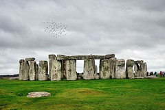 Flocks at Stonehenge (floato) Tags: uk sky people english heritage history beauty grass birds britain stones plateau flock queue stonehenge stunning mound wiltshire attraction amesbury