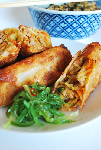 Pork & Apple Egg Rolls