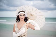 1920s Theme Wedding (Oeil Photography) Tags: 1920s wedding beach vintage bride florida antique oeil faux fl flapper bridal pensacola 20s oeilphotography