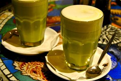 green tea latte (Ian Riley) Tags: street green glass cafe tea drink beverage australia zuma adelaide sa latte southaustralia gouger
