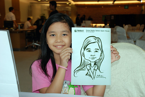 Caricature live sketching for Sime Darby Select Open House Day 1 - 2