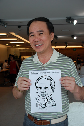 Caricature live sketching for Sime Darby Select Open House Day 1 - 11