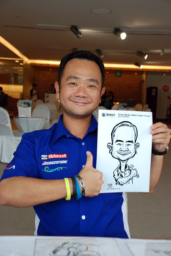 Caricature live sketching for Sime Darby Select Open House Day 2 - 3