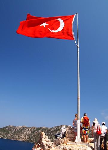 飄揚的土耳其國旗