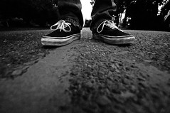 Day 254 of 365 - Stomping Ground (Andrew.Welker) Tags: road street bw white black feet home concrete photography nikon shoes day sweet pavement sigma ground andrew kicks vans 365 1020mm stomping 254 d90 welker