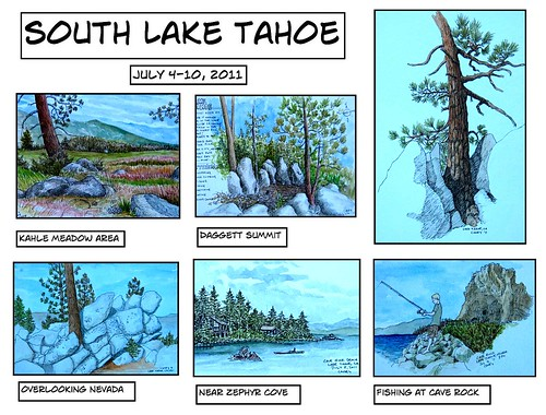 Lake Tahoe Sketches July 2011