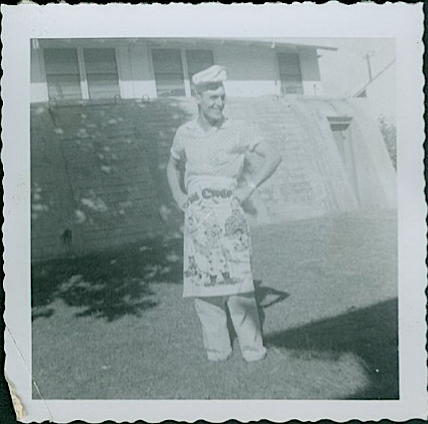 1950s Man in Novelty apron