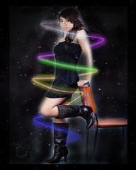 joselle (zouglazo) Tags: photoshop stars smoke glowinglights joselle photoscape facebookfriend