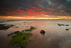Maryport Sunset (.Brian Kerr Photography.) Tags: sunset sky seascape clouds landscape scotland rocks cumbria solway criffel dumfriesandgalloway maryport canoneos5dmkii