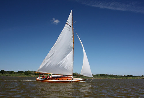 Yacht on Hickling Broad