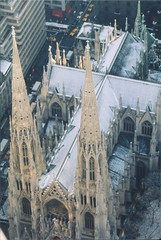 Aerial View of St. Patricks Cathedral, New York, Top of the Rock (lensepix) Tags: newyork stpatrickscathedral aerialview topoftherock