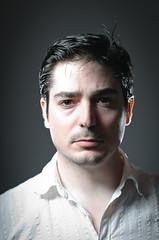 Headshot test (LluisGerard) Tags: boy portrait people selfportrait man male guy me face self myself head headshot shoulders browneyes darkhaired strobist