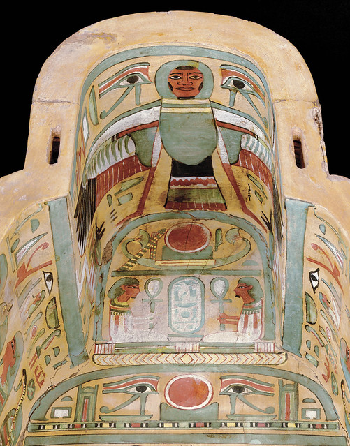 Ba-Bird in an Ancient Egyptian Sarcophagus