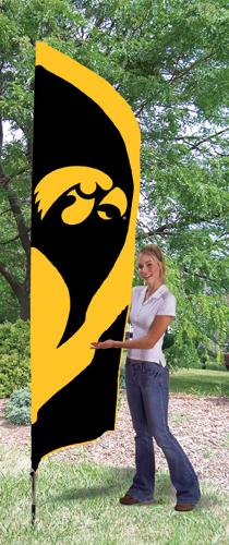 Iowa Hawkeyes Tall Feather Flag
