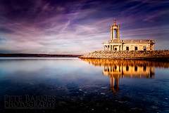 Normanton Church on Rutland Water (Pete Barnes Photography) Tags: winter sky sun lake reflection art church water landscape photography golden italian photographer purple roman scene rutland ornate rutlandwater normanton landscapephotography normantonchurch