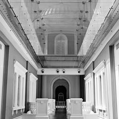 Corridor, Arch, Cupola (alkanphel) Tags: bw 6x6 film architecture analog zeiss mediumformat arch kodak trix corridor 400tx hasselblad cupola 500cm carlzeiss nationalmuseumofsingapore planart2880cf project6x6