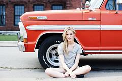 ashton + ford truck (reidrolls) Tags: summer portrait orange ford fashion model nashville blonde fordtruck fordtrucks