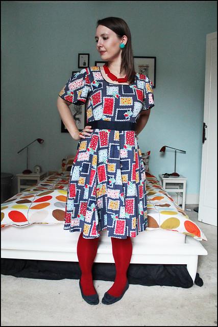 patchwork fabric dress