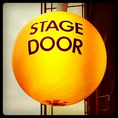 The Old Vic stage door, Webber St, London SE1