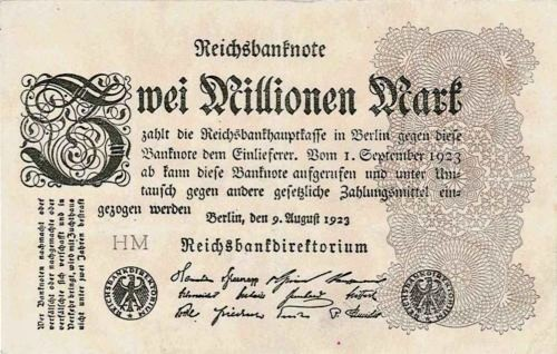 2 Milióny Marek Nemecko1923, Pick 104