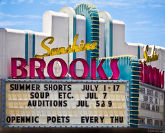 Brooks Theatre (Shakes The Clown) Tags: california old signs vintage marquee flickr retro oceanside signage trips canon5dmarkii