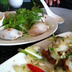 Pork stuffed squid