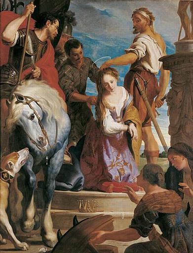 Caspar de Crayer, Le Martyre de Sainte Catherine (2e quart du 17e siècle)