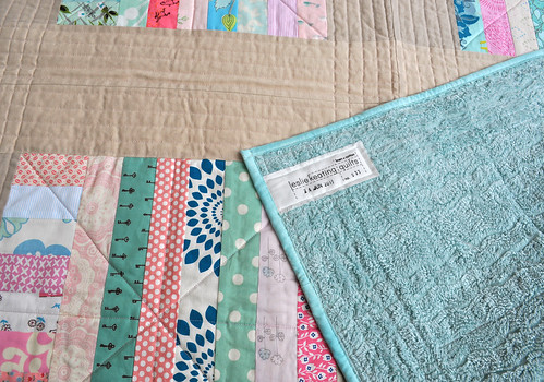 tin roof baby quilt+back