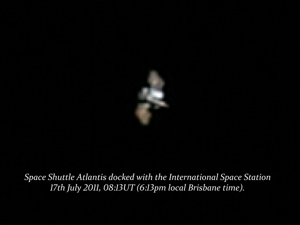 Space Shuttle Atlantis (STS-135) and the ISS 17th July 2011