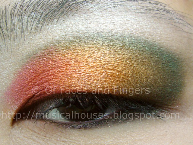 sleek curacao multicolour sunset eye look 2