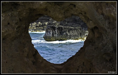 I Love Maui (whizvish) Tags: ocean hawaii polynesia arch heart maui shape nakalele ilovemaui rockwindow kingdomofhawaii