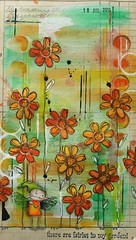 Art Journal - Fairies in my garden (thekathrynwheel) Tags: artjournal journaling stampotique