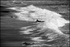 Heading Out (K-Szok-Photography) Tags: ocean california blackandwhite beach monochrome canon fun outdoors waves surfing pacificocean socal 5d canon5d oc sanclemente canon70200f4l sanclementepier adifferentpointofview aphotographersnature kenszok
