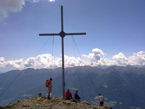 Das Gipfelkreuz auf der Vermoispitze