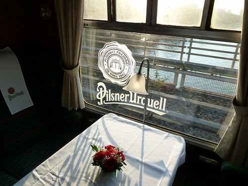 Crossing the Thames - Inside The Pilsner Urquell Express to the British Open 2011