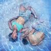 Everywhere (YetAnotherLisa) Tags: blue portrait selfportrait water pool swim self underwater clone swimsuit meagainmonday