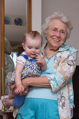 Alannah and Great Grandma Louise (Craig Dyni) Tags: baby girl greatgrandma madelyn alannah greatgranddaughter dyni