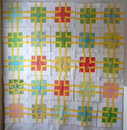 The Quilting Book Club- July Blocks completed