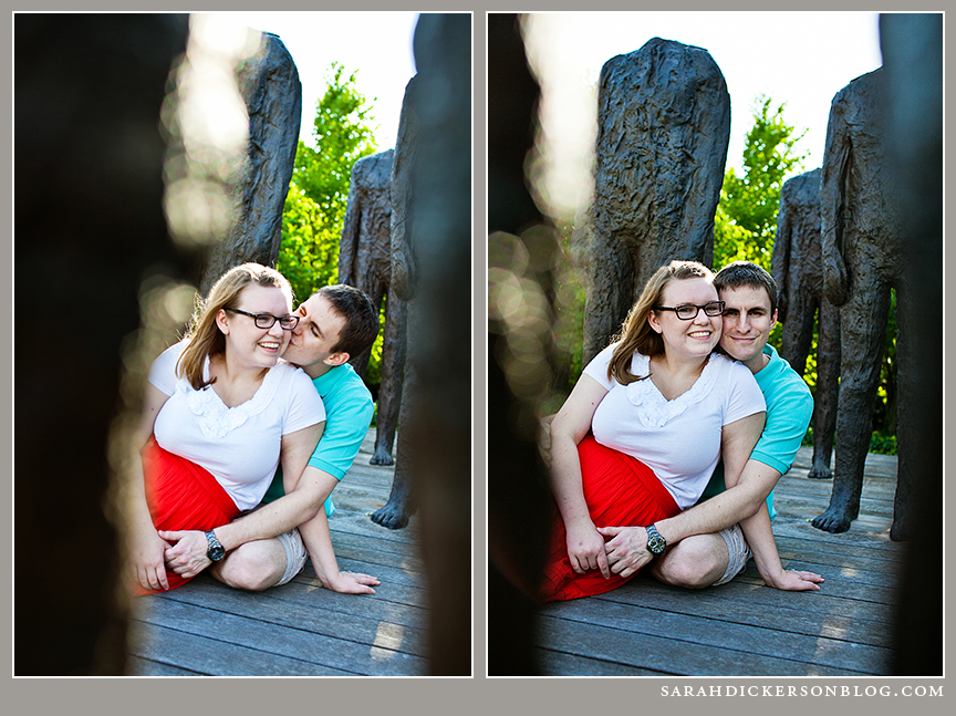 Nelson-Atkins Museum of Art Kansas City engagement images