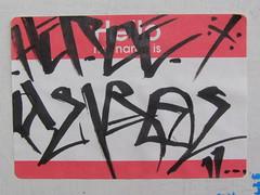 HEROE (]L ][ /A\ ]M[) Tags: streetart oregon portland graffiti sticker glue illegal slap